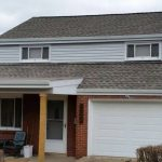 New roof gutters and siding