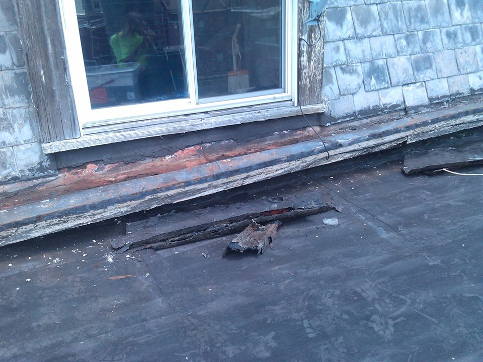 Box Gutter before work started