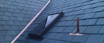 Close-up of Slate Roofing